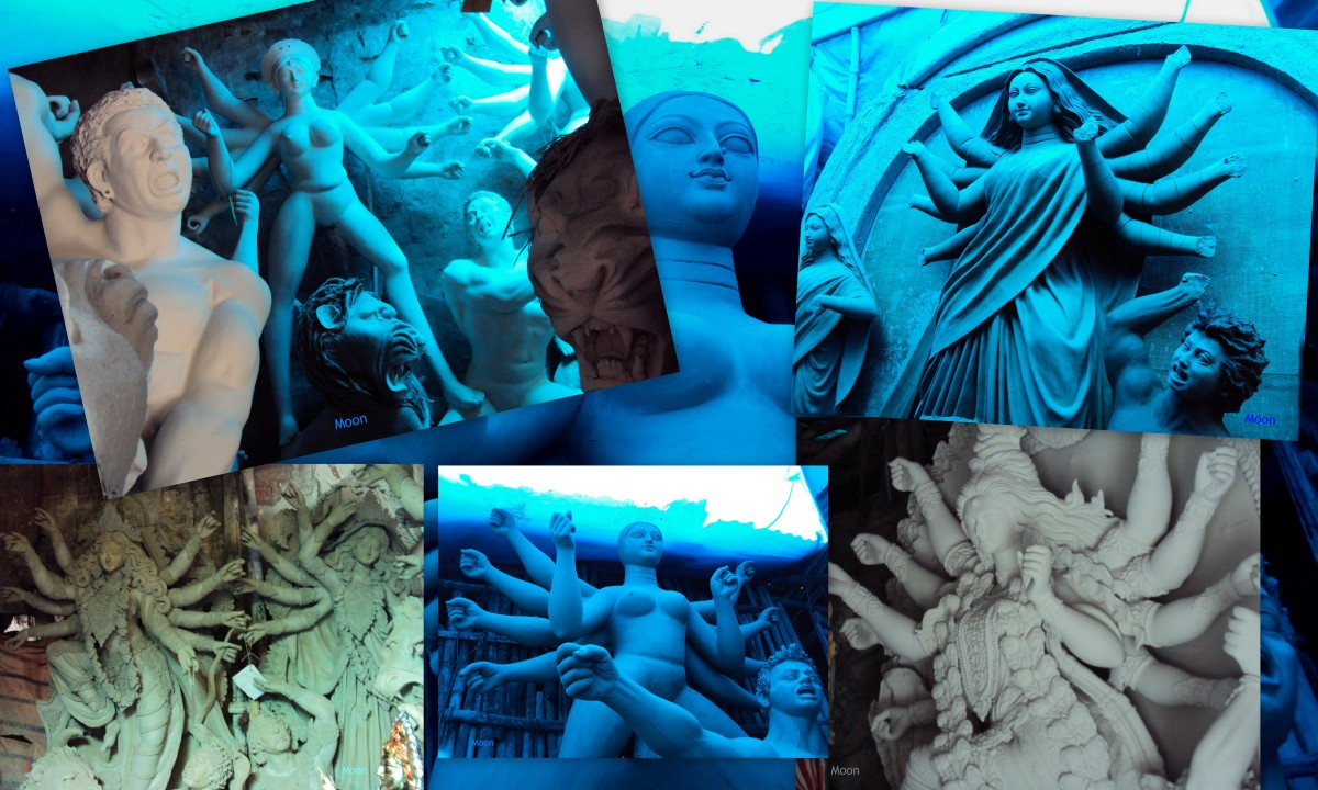 idols of goddess Durga