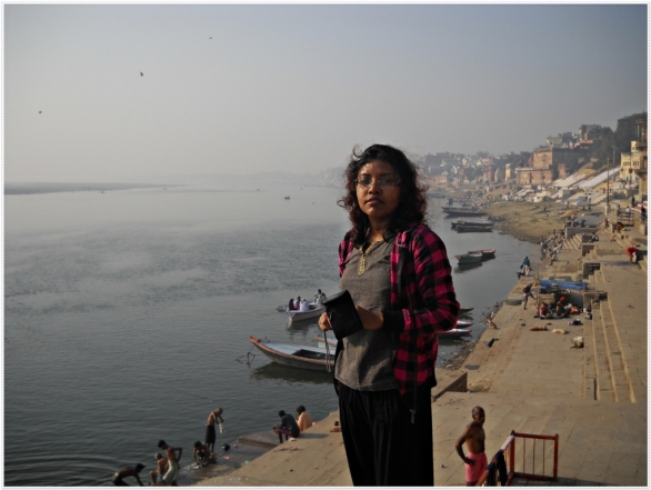 Me at Varanasi, Ghat, photography