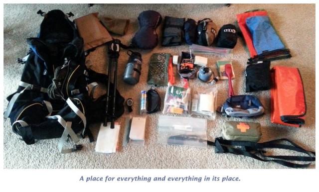 Travel, backpacking, organize