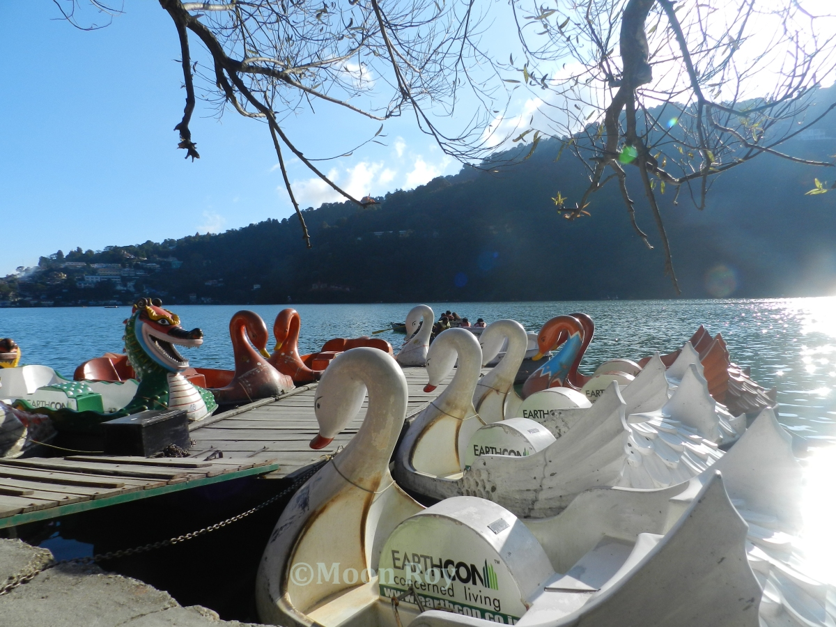 The boat pier at Naini Lake, Nainital