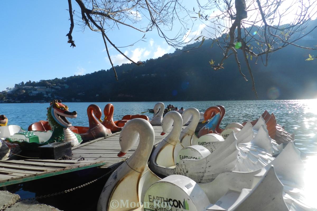 The boat pier at Naini Lake, Nainital