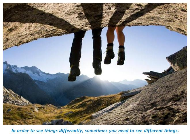Travel to see things differently.
