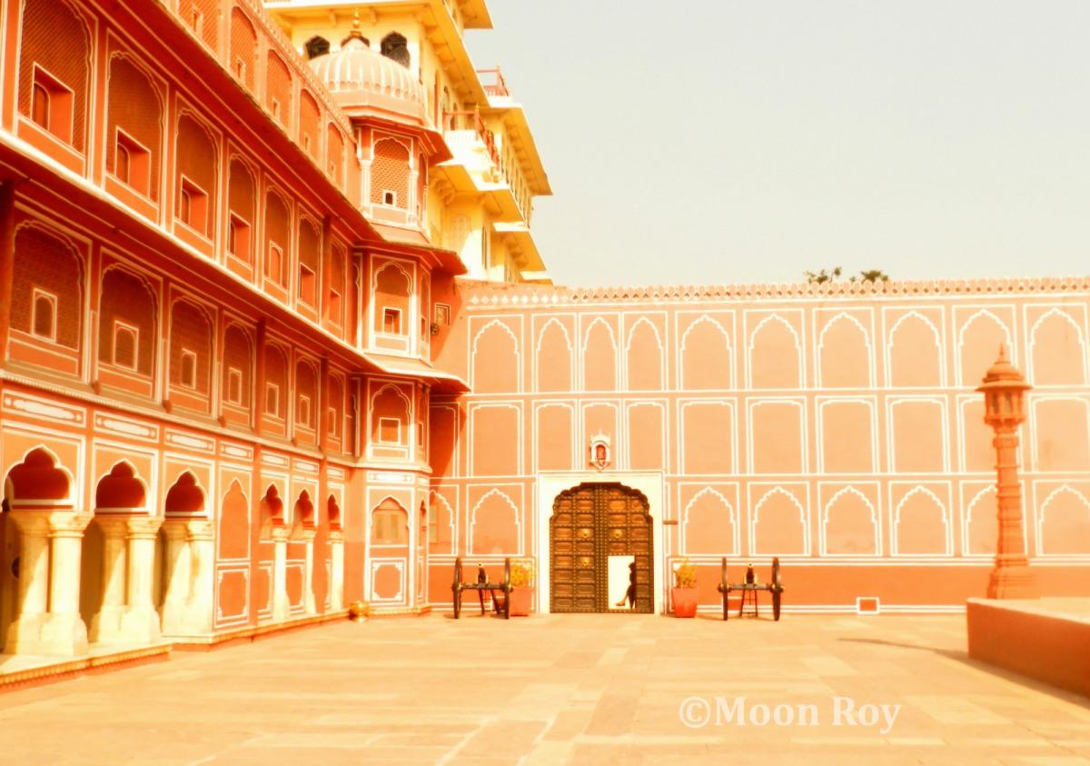 Jaipur city palace, pink city, jaipur, architecture