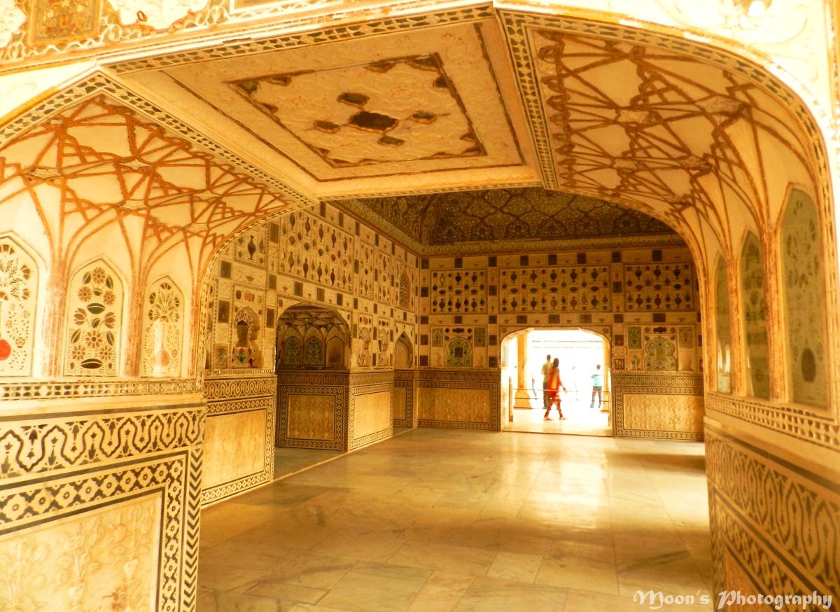 sheesh mahal, mirror palace, amer palace, jaipur