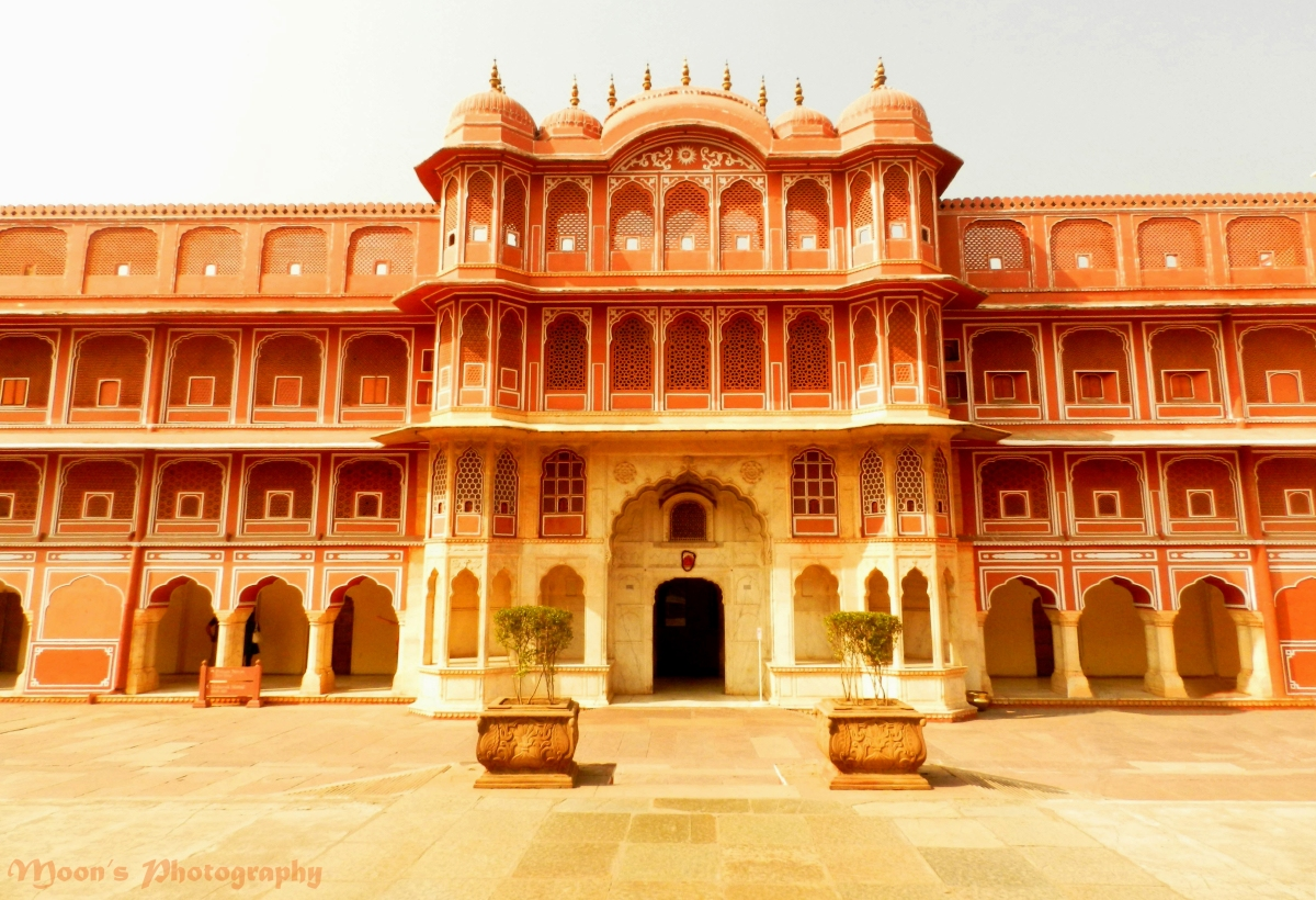 Jaipur city palace, orange
