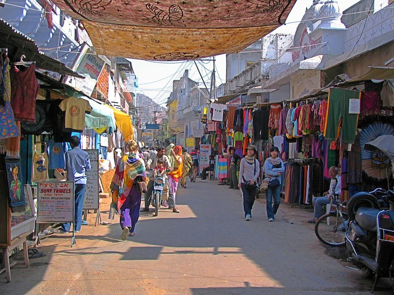 pushkar street market, shopping in pushkar