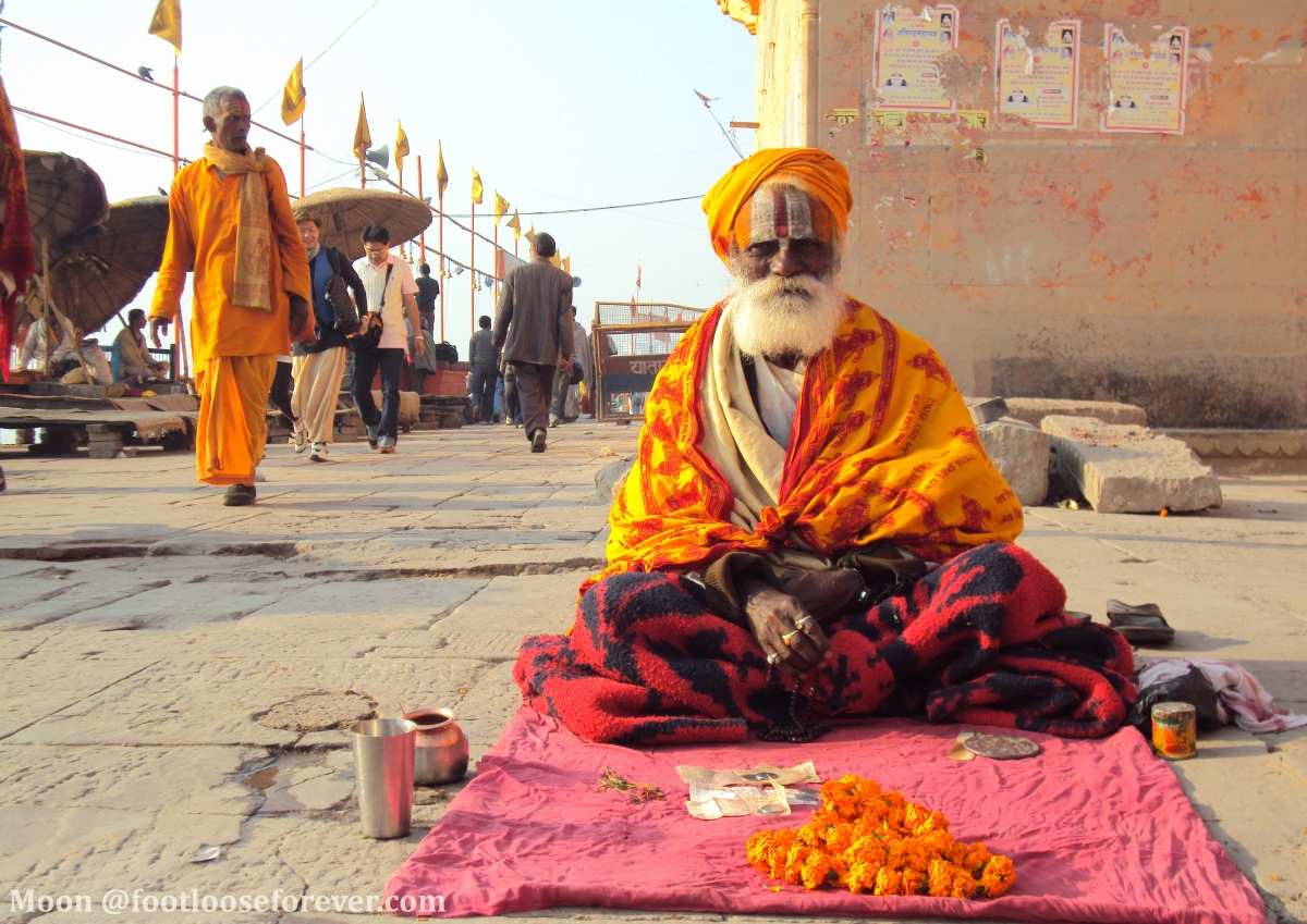sadhu, sadhu baba, Varanasi Dasaswamedh ghat, saint, hermit