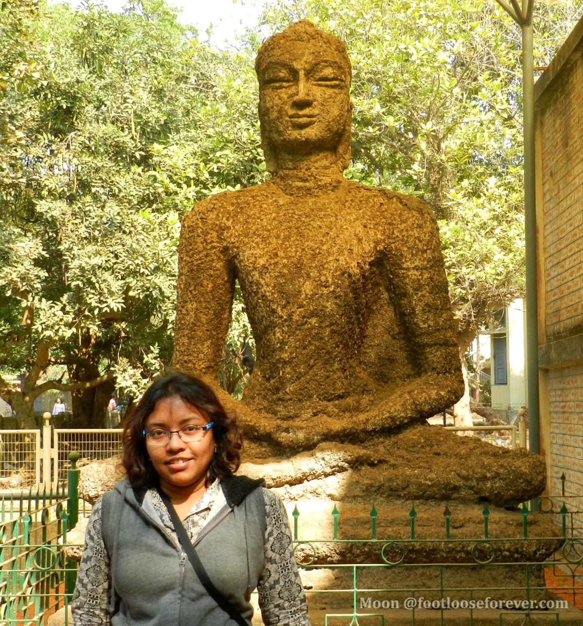buddha statue by ram kinkar baij, Visva Bharati, kala bhavan, shantiniketan