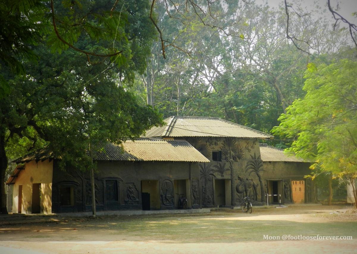 kalobari, black house, kala bhavan, visva bharati, shantiniketan