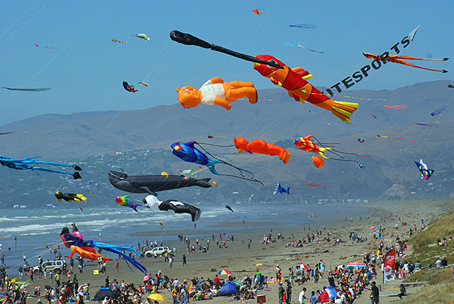 Brighton Beach Kite Festival , Christchurch, ICC cricket world cup match
