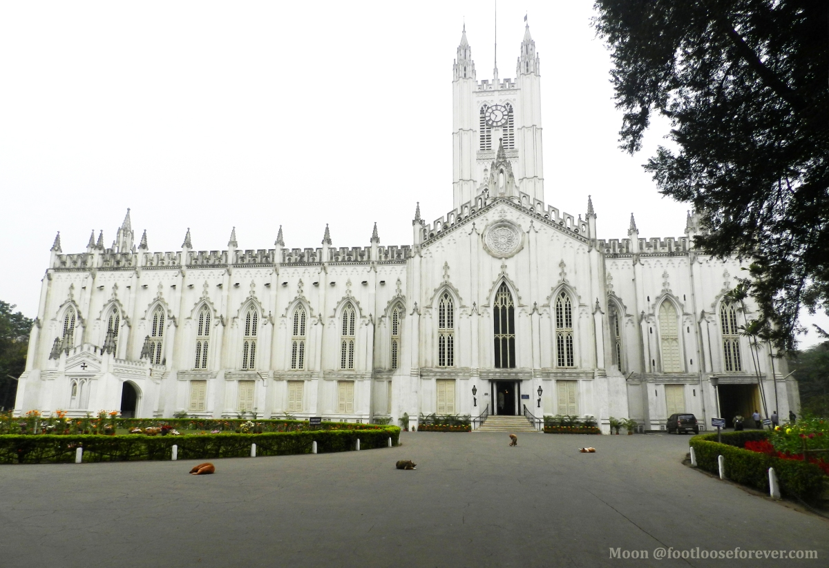 St paul's cathedral kolkata, church, sightseeing, Kolkata walking tour