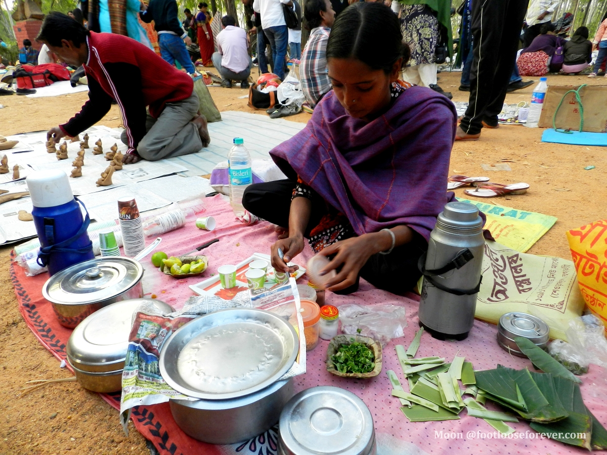 tea stall at khoai mela, Shanibarer haat, santiniketan