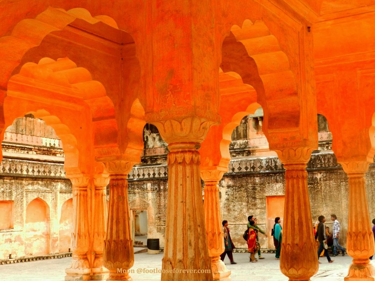 Amer fort, Amaer palace, amer palace courtyard, jaipur, rajasthan