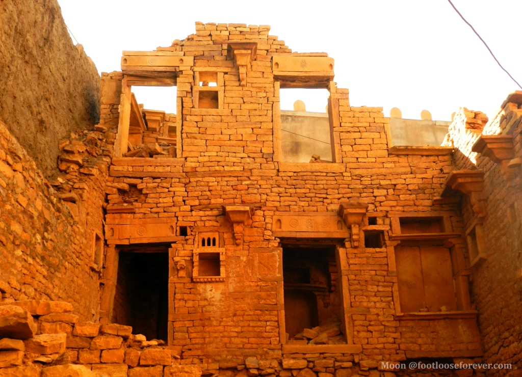 Jaisalmer fort, ruined walls