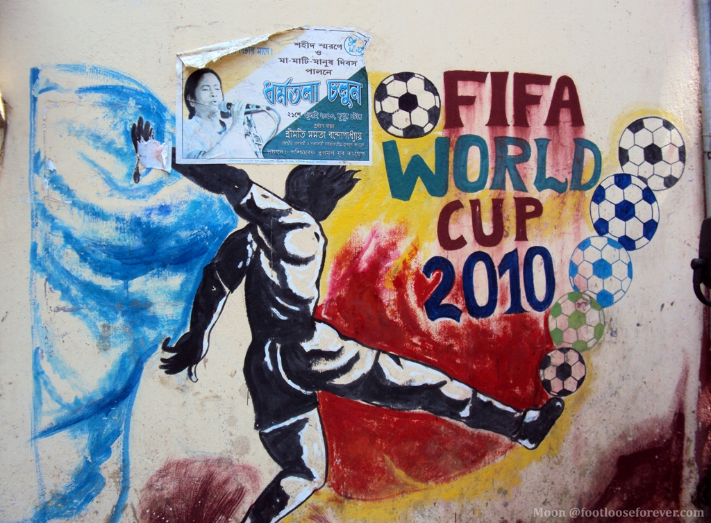 posters in Kolkata, world cup football