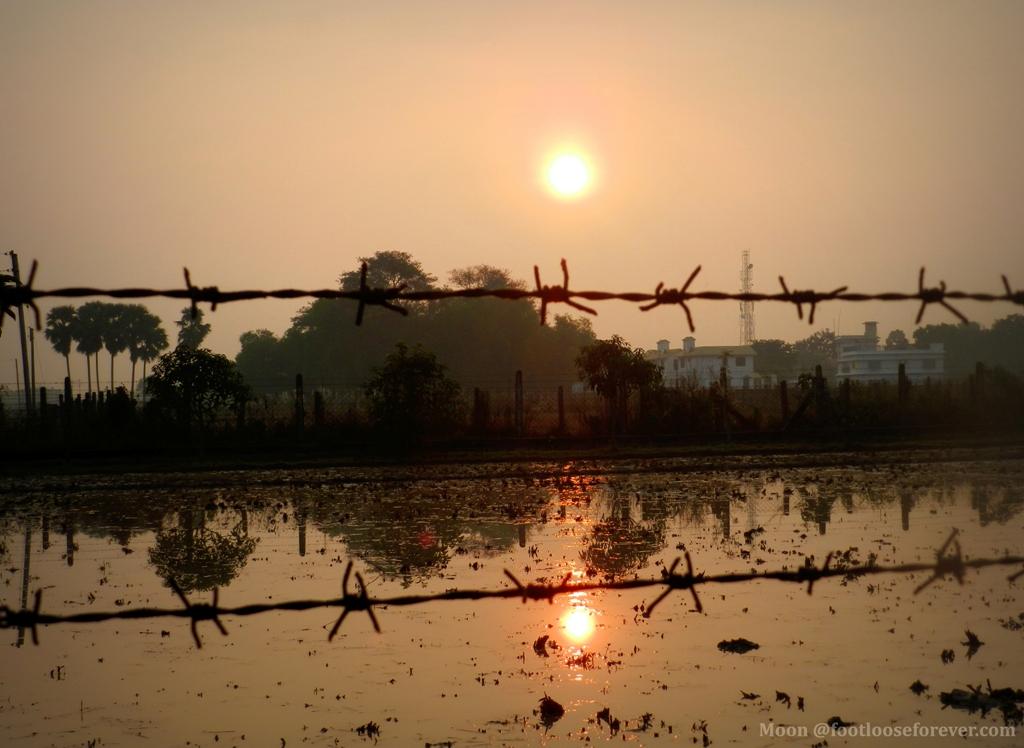 sun, sunrise, shantiniketan, bolpur, west bengal, village