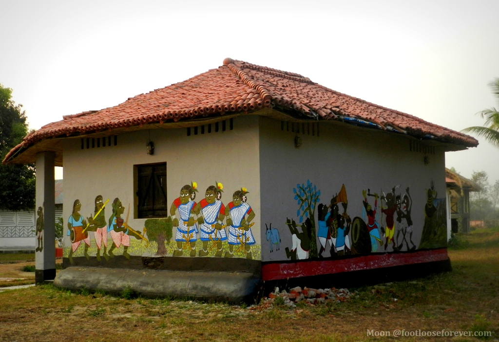 tribal cottage, Bolpur Shantiniketan, tribal art