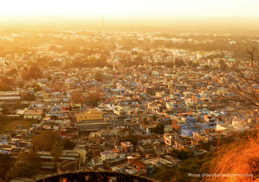 Udaipur city, udaipur from Chittor