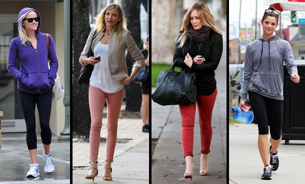 hollywood celebrities wearing leggings, celebs in leggings
