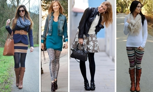 leggings with short dress and skirts