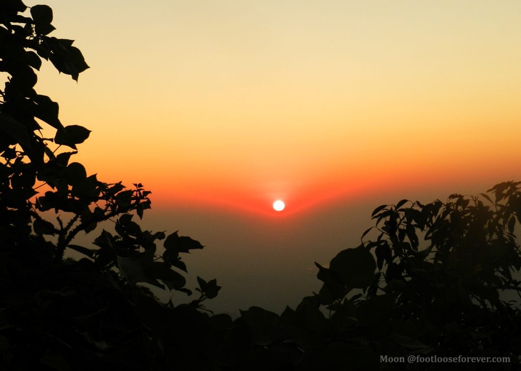 Mt Abu sunset, mount abu sunset point