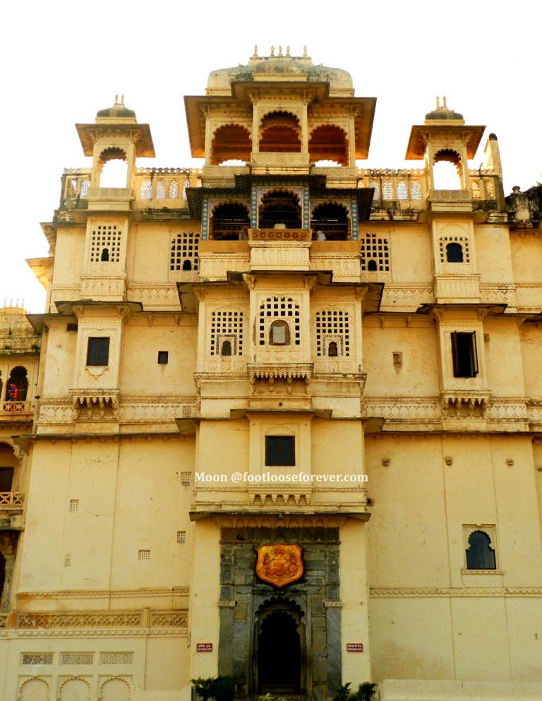 Udaipur City palace, palatial facade