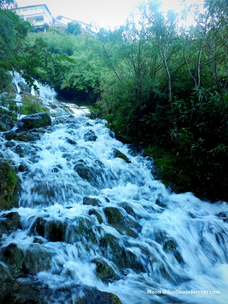 waterfall, nainital, streams