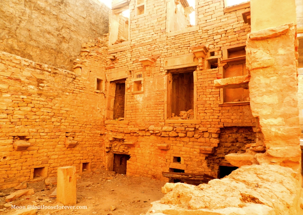 ruins, jaisalmer fort, rajasthan