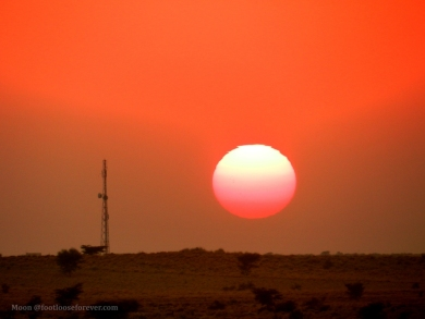 sunset, thar desert, jaisalmer, rajasthan