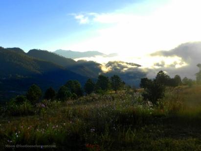 morning, light, hills, kumaon, choukori, uttarakhand