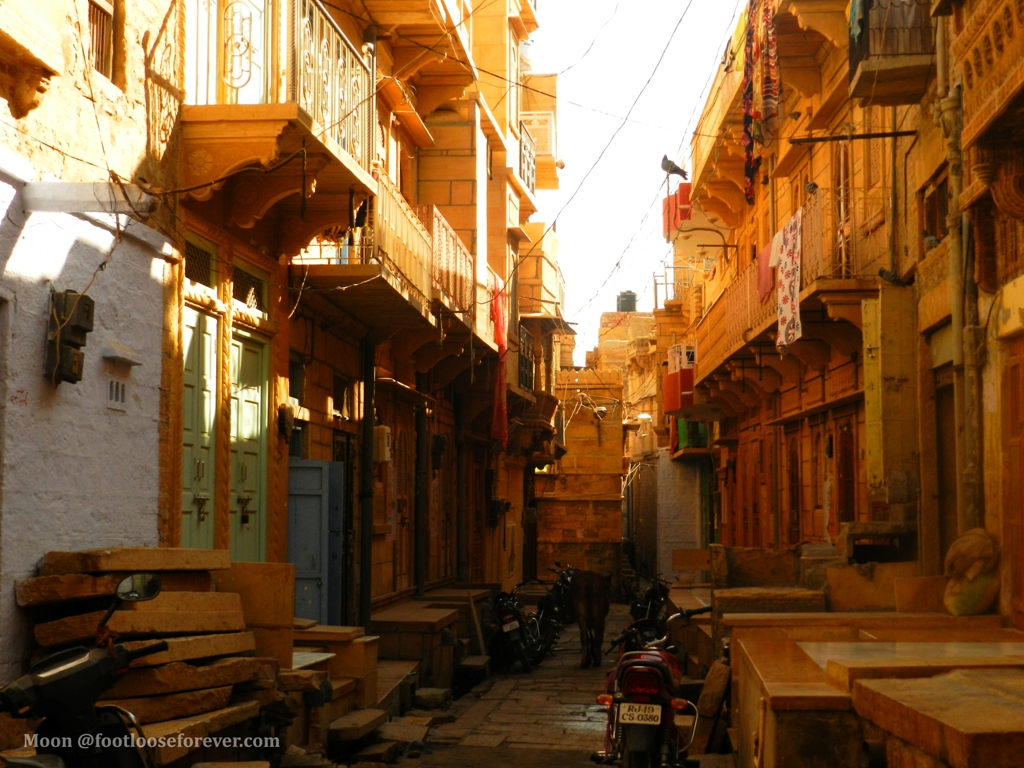 alley, lane, jaisalmer fort