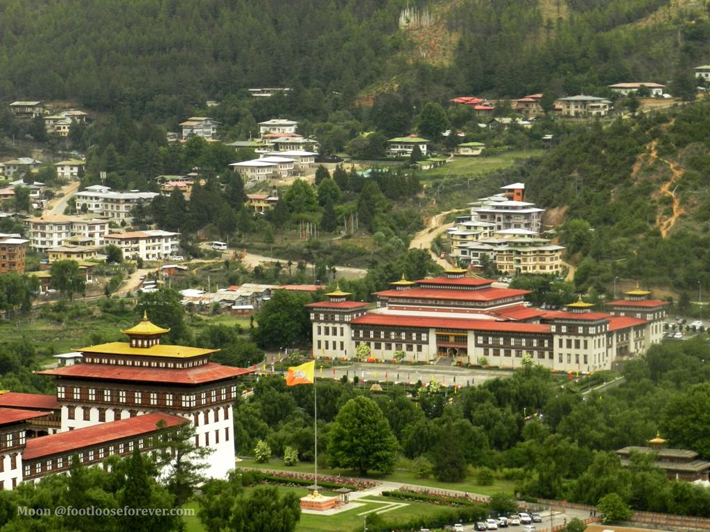 Bhutan parliament, tashichho dzong, thimphu