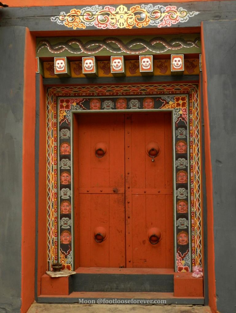 door, doorway, monastery, Changankha lakhang, Thimphu, Bhutan