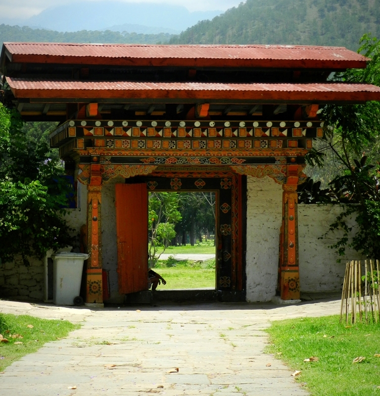 door, doorway, monastery, Punakha, Bhutan