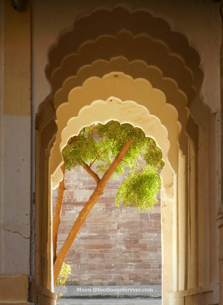 Doorway, arches, Rajasthan, Mehrangarh fort, Jodhpur