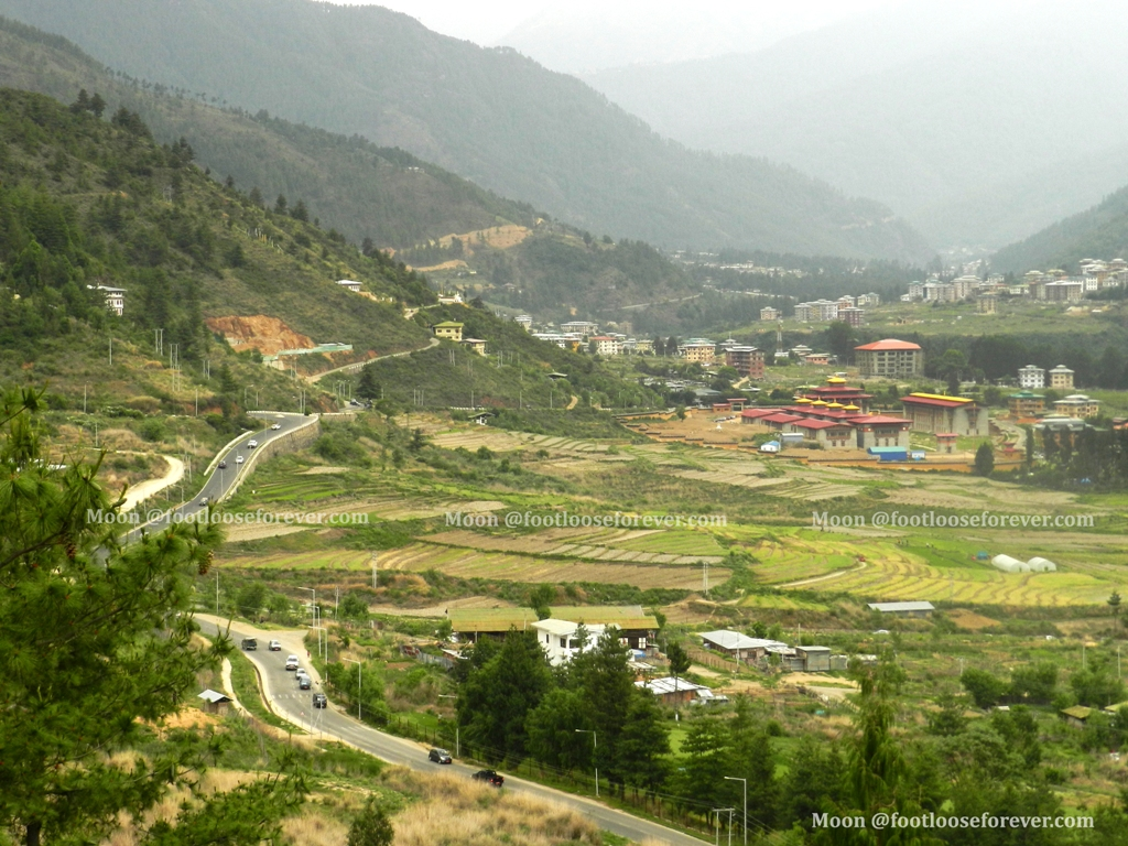 Thimphu, bhutan, hills, valley
