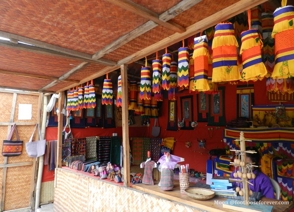 handicrafts market, thimphu, bhutan