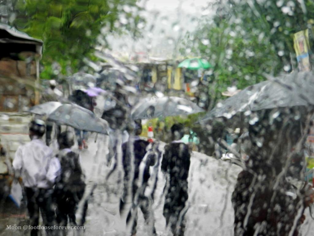 monsoon, rain, boys