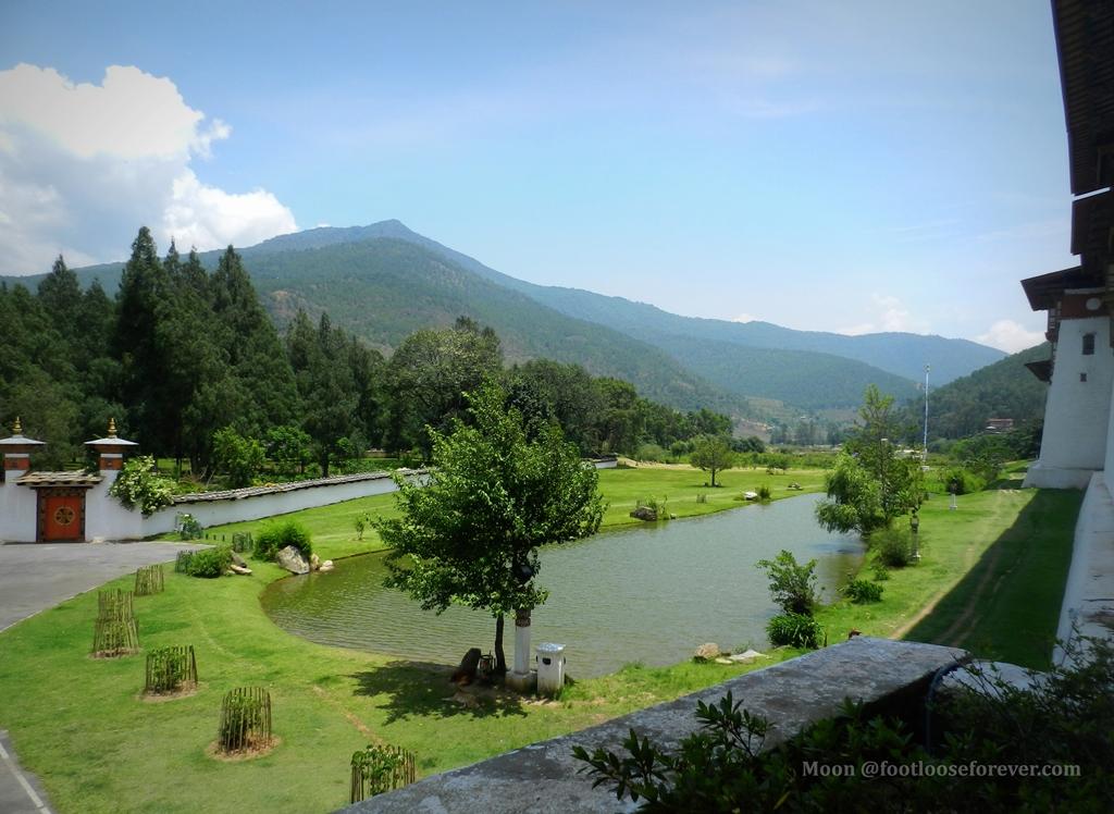 punakha dzong lake
