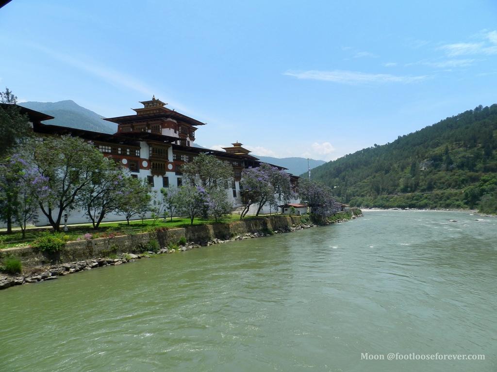 punakha monastery by pho chhu