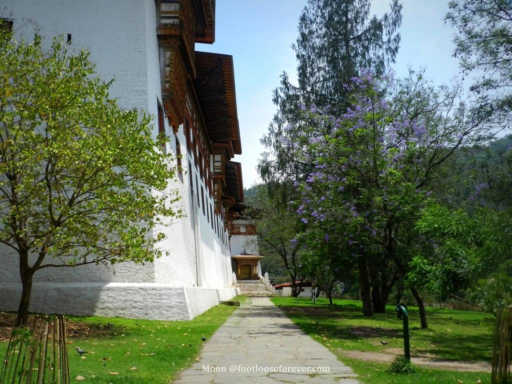 punakha monastery garden, bhutan