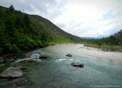 river, mountains, Paro, Bhutan