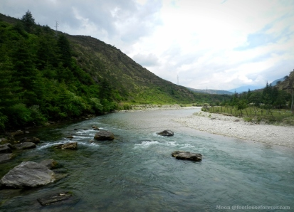 river, mountains, Paro, Bhutan
