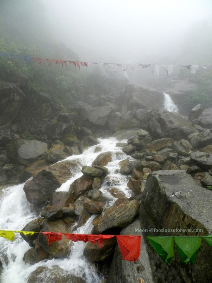 waterfall, streams, thimphu, bhutan, hills, mountain