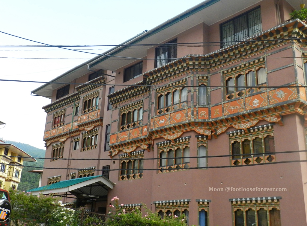 traditional house in thimphu, bhutan, art and architecture