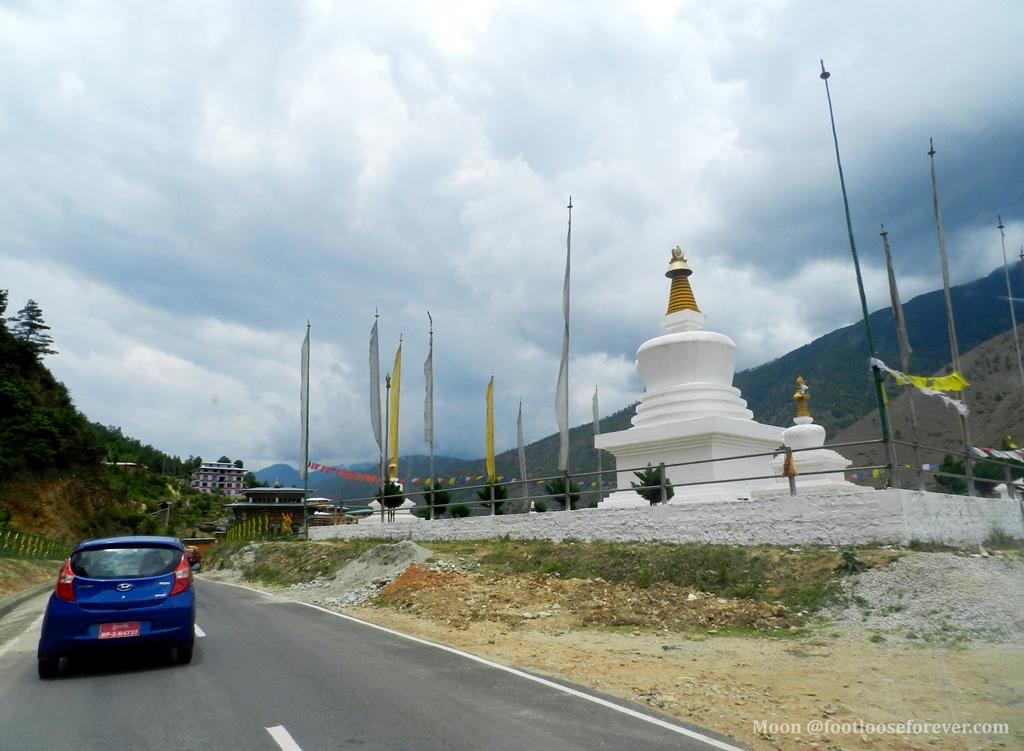 thimphu architecture, Buddhist stupa, bhutan