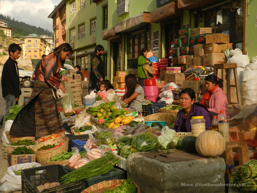 vegetables, market, thimphu,bhutan