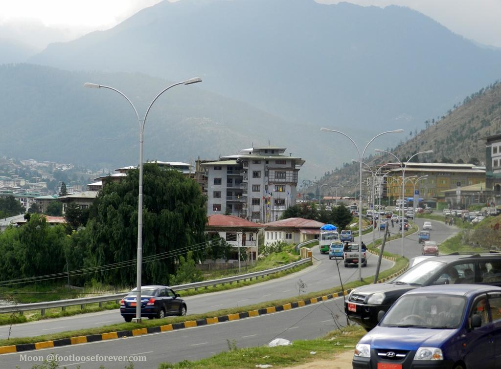 thimphu, roads, bhutan