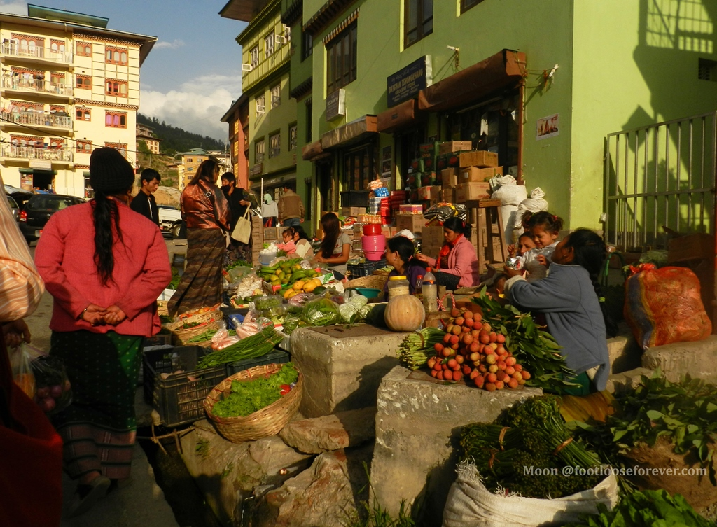 vegetable market, thimphu, bhutan