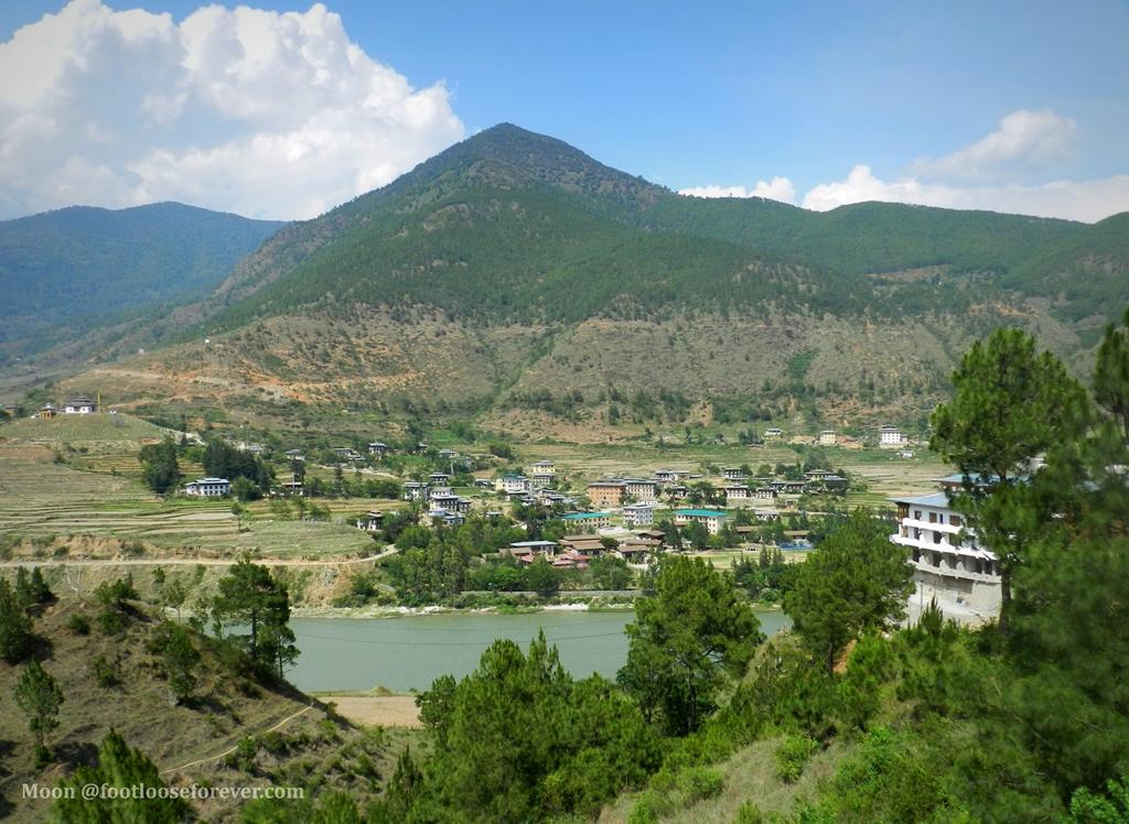 wandue, wandue phodrang town, punakha, bhutan